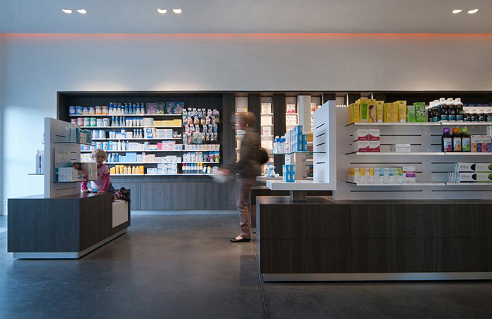 Am nagement pharmacie minimaliste seclin for Amenagement interieur pharmacie